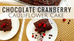 chocolate-cranberry Cauliflower Cake