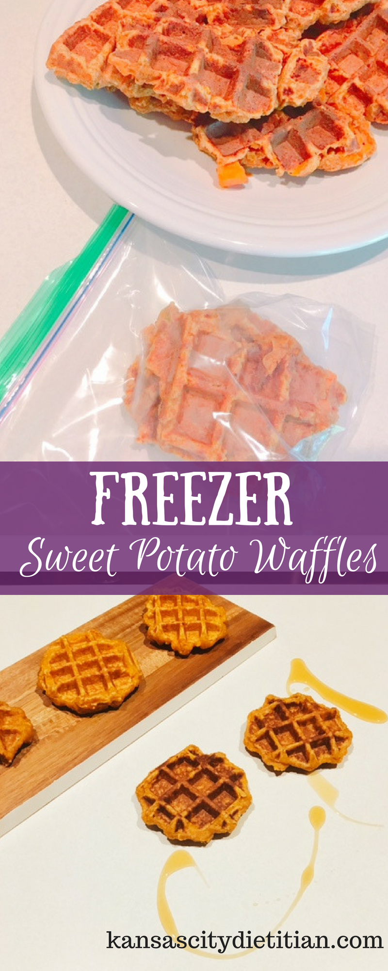 Freezer Sweet Potato Waffles