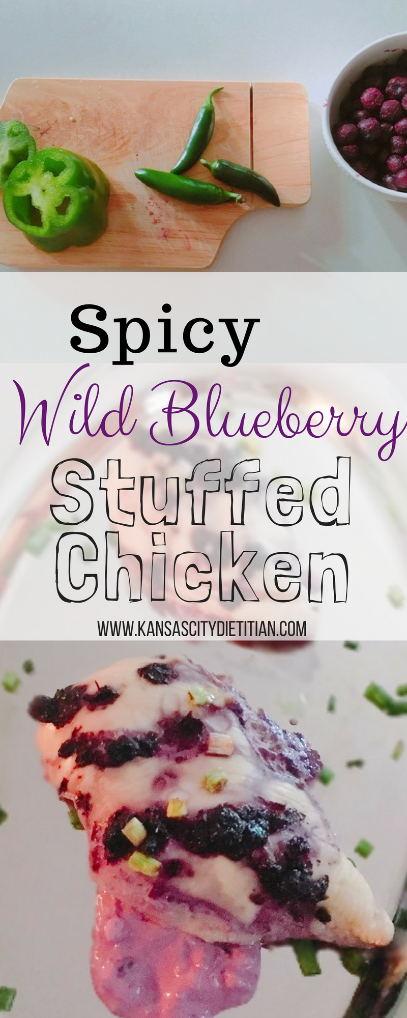Spicy Wild Blueberry Stuffed chicken