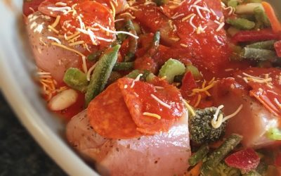 Weeknight Pepperoni Pizza Chicken
