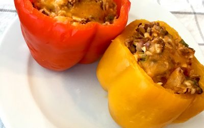 Slow Cooker Cauliflower Stuffed Peppers