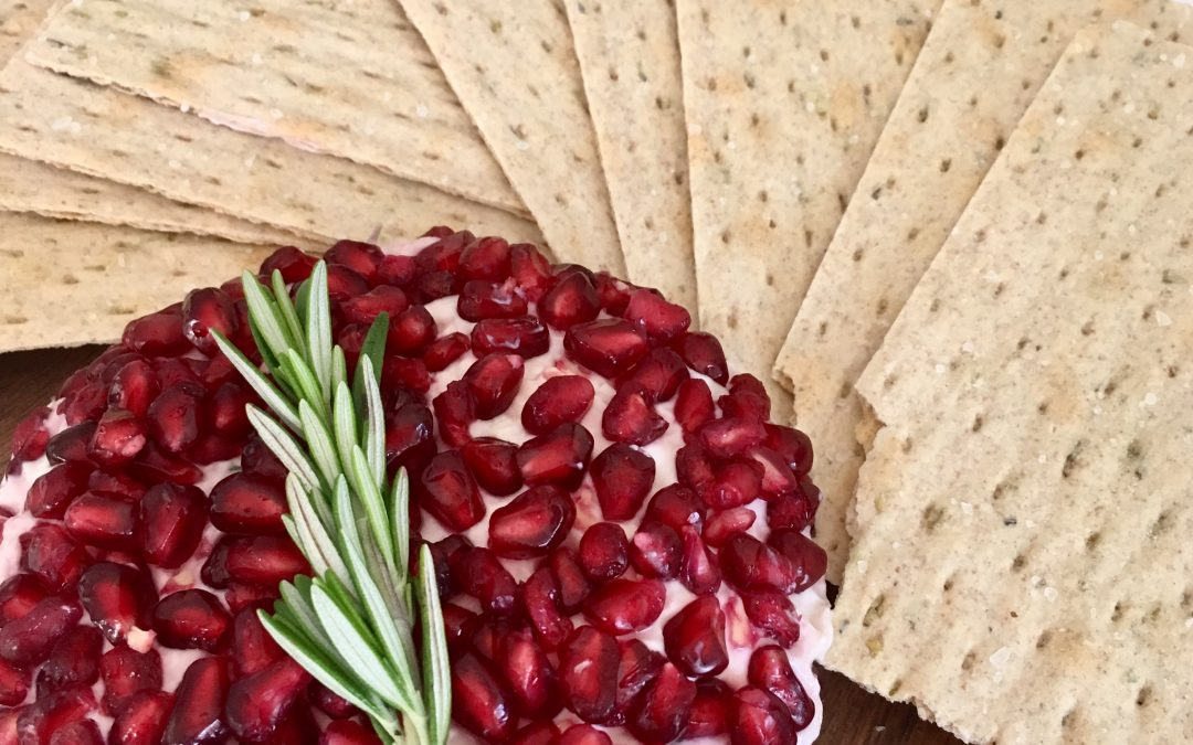 Rosemary Pomegranate Cheeseball