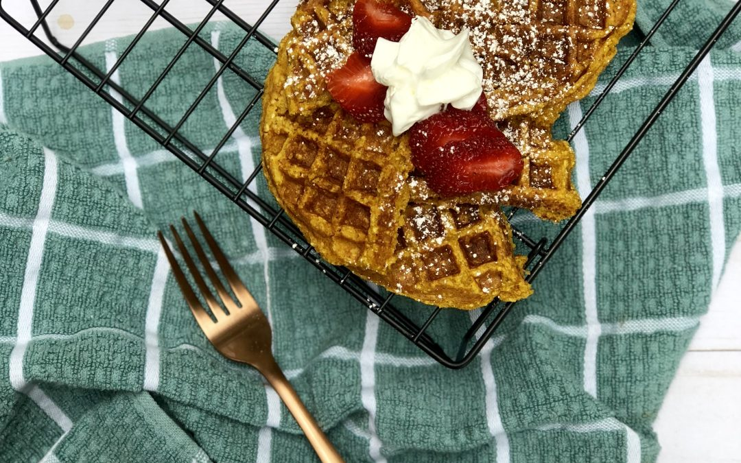 Turmeric Sweet Potato Waffles