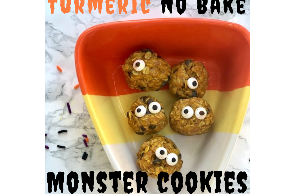 Turmeric No Bake Monster Cookies
