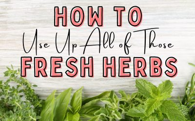 How to Use Fresh Herbs: Gut healthy Pesto